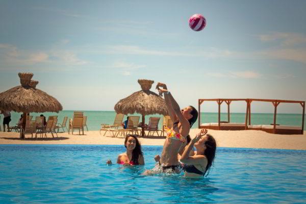 Pool volleyball laguna shores resort